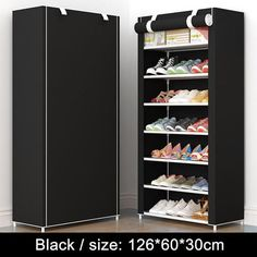Home Furniture Frugal Coffee Large Shoe Cabinet Organizer 7-layer 9-grid Non-woven Fabrics Removable Shoe Storage For Home Furniture Shoe Rack Elegant Shape