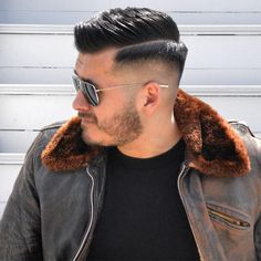 "oldschoolbarber: ""Take care of my boy and the gang at Hard Part Haircut, Side Part Haircut, Modern Mens Haircuts, Haircuts For Men, Short Hair Cuts, Short Hair Styles, Hair And Beard Styles, Rockabilly Hair Men, Mens Hair Comb"