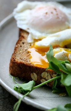 poached eggs  http://spreadthejoy.tumblr.com/post/25523983980/kiyoaki-via-poached-guinea-eggs-and-pea-shoots