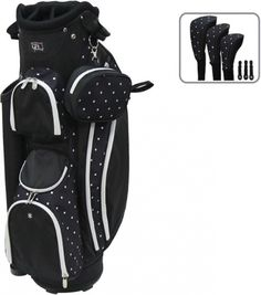 Polk A Dot RJ Sports Ladies Boutique Golf Cart Bag now at one of the top shops for ladies golf bags #lorisgolfshoppe