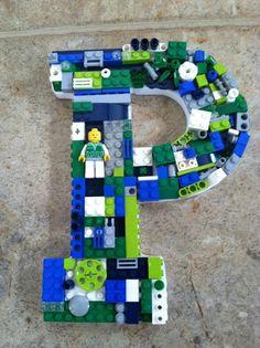 Custom toy brick letters set.  P.  L by MosaicTreasureBox on Etsy, $105.00