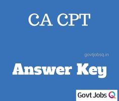 CA CPT December 2017 Answer Key Question Paper with Answers Cut #CA #CPT