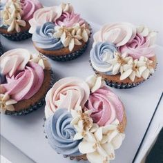 36 Ideas Cupcakes Fancy Baking For 2019 Cupcake Frosting, Fondant Cupcakes, Cupcake Cakes, Cup Cakes, Rose Cupcake, Butter Cupcakes, Wilton Cakes, Baking Cupcakes, Deco Cupcake