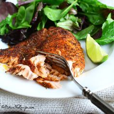 Smoky and charred with a little kick of heat...this easy homemade blend of herbs and spices is the ideal seasoning for salmon and other meats. (Blackened Salmon Recipe on PictureTheRecipe.com) #salmon #blackenedsalmon #blackenedseasoning #spicerub #food #instafood #picturetherecipe #recipes #seafood #delicious #homecooking #homemade #foodblogger #nofilter
