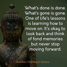 Never stop moving forward.