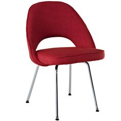 Earnest Dining Side Chair in Red - Modern Way - $222.75 - domino.com