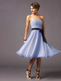 2011 Style A-line Strapless Knee-length Sleeveless Chiffon Cocktail Dress / Bridesmaid Dress $156. SO amazingly cute in so many colors.