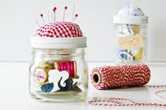 This Sewing Kit in a Jar is the perfect gift for the sewer in your life. Easily personalize your gift with the recipients favorite colors by...