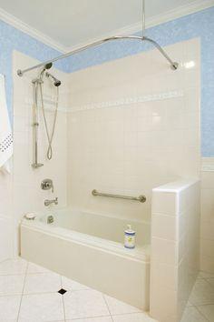 Alcove Bathtub Bathroom Traditional New York 4x4 Tile ...