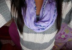 scarf & sweater. ♡