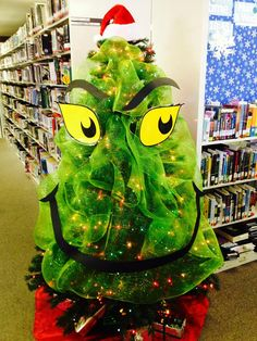 Grinch Christmas Tree! | I think it'd be amazing to try and tie-in other holiday symbols with other book characters as well.