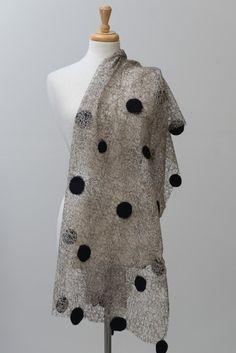 Sale Off Nuno felted scarf felted scarf felt scarf nuno Diy Scarf, Lace Scarf, Nuno Felt Scarf, Felted Scarf, Sewing Scarves, Cooling Scarf, Felting Tutorials, Scarf Design, Fashion Project
