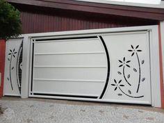 New sliding garage door entrance 58 ideas Home Gate Design, Gate Wall Design, Grill Gate Design, House Main Gates Design, Steel Gate Design, Front Gate Design, Door Design Interior, House Design, Compound Gate Design