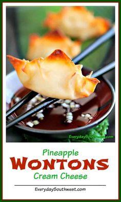 Pineapple Wontons with Togarashi Recipe—Baked! - Everyday Southwest