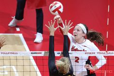 The No. 4 Nebraska volleyball team rallied from an 0-2 deficit on the road at No. 1 Penn State to upset the Nittany Lions, 3-2 (12-25, 24-26, 25-14, 25-20, 15-11) at Rec Hall on Friday night.