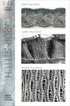 dropped stitches primer... and other nifty knit bits...