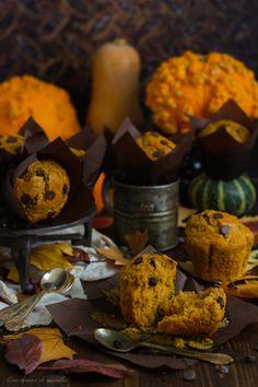 Muffins de calabaza y pepitas de chocolate | Con aroma de vainilla