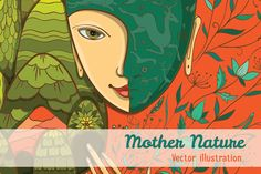 Vector illustration of Mother Nature by Shusha-art on Creative Market