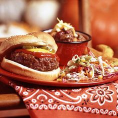 Grilled Beef Burgers - Click for recipe and to add to Shopper