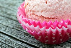 Cherry Tea Cakes: Strawberry Balsamic Ice Cream