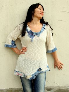 Pantalones de mezclilla de suéter M L verano por jamfashion en Etsy