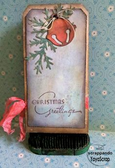 """Back Christmas tag for Scrappando"" . . . what a simply lovely tag . . ."