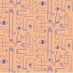 "500 Likes, 7 Comments - Carolyn Suzuki Studio (@carolynsuzuki) on Instagram: ""(o ) (  o)  ✋ #surfacedesign #pattern #patterns #textiledesign #isthereafootemoji #csgpatternbook"""