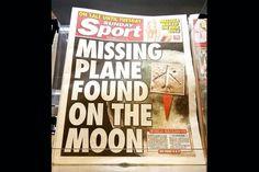 Tablóide britânico sugere q aviao desaparecido da Malaysia Airlines está na lua - Blue Bus