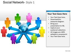 Company Social Network 1 PowerPoint Slides And Ppt Diagram Templates - PowerPoint Diagram
