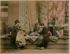 Shops and Stores in Japan in The 19th Century   http://www.vintag.es/2013/05/shops-and-stores-in-japan-in-19th.html#more