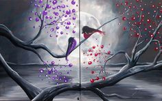 Lover Birds Couples Painting