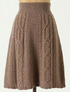 Dazzling Crochet a Bodycon Dress Top Ideas Crochet Skirt Antropologie cable knit skirt Record of Knitting Wool rotating, weaving and sewing jobs such as BC. Crochet Skirt Outfit, Knit Skirt, Knit Dress, Crochet Skirts, Knitting Wool, Hand Knitting, Crochet Clothes, Skirt Fashion, Cable Knit