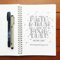 18/100 of #100daysofdisneyquotes and I think just may be my favorite so far! Of course that could partly be because I got to try out my new set of #staedtlerpens.