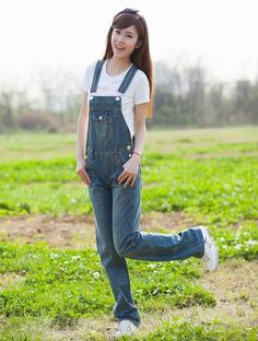 a68b0c90a17a Plus size XXL XXXL new 2014 spring casual jumpsuits women loose cotton denim  overalls solid pocket denim straight rompers H2533-in Jumpsuits from Women s  ...