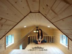 The Jefferson Tiny House by Liberty Cabins. I like the raised roof and windows for light and air; also less claustrophobic(RM)