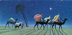 christmas 3 kings | guided by the christmas star the three kings seek the christ child ...