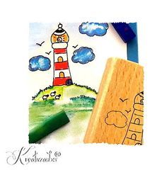 Mit Pastellkreide colorieren ★ Motivstempel www.kreativzauber.de