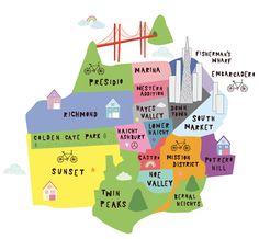 San Francisco Neighborhood Map.