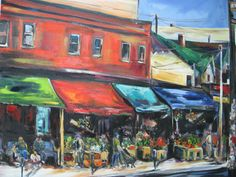 Natalie Bohnen-Twiddy is a renowned Canadian artist with her art studio located at the tett Centre located in Kingston, Ontario. Shadow Play, City Scene, Canadian Artists, Love Painting, Light And Shadow, My Arts, Street, Beans Recipes, Shadow Theater