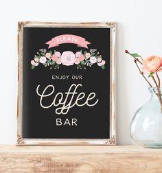 Rustic Wedding Coffee Bar Sign Printable  by MissDesignBerryInc