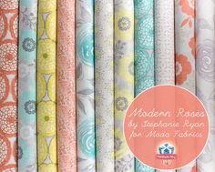 Soft and sweet - Modern Roses by Stephanie Ryan for Modern Fabrics