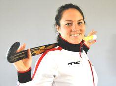Maike Stöckel, fieldhockey player Germany. European Champion, 2 Olympics, Beijing 2008 and London 2012. #TKHockey