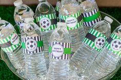 Pin for Later: A Soccer Party That's Sure to Score! Hydration Station Monique found these water bottle labels on Etsy ($3).  Source: Arica Grafton Photography