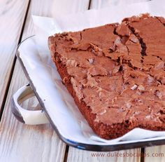 Brownie de chocolate sin nueces - Chocolate brownie free nuts