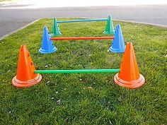 Dog Agility Jump Set Training Equipment[Blue Cones]