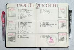 I like the idea of having a small space to note important events each month - wtf is the point of just a 'year at a glance' with no room to mark it up  my cell is for that! Future Log w/ calendar month on the same page