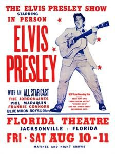 1950s Elvis Rock 'n' Roll Show Poster, this reminds me of old American times. Elvis was beyond popular in America.