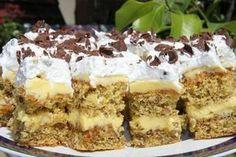 Reteta Prajitura Petre Roman - Prajituri - I Cook Different Sweets Recipes, Cake Recipes, Hungarian Cake, Albanian Recipes, Roman Food, Romanian Desserts, Kolaci I Torte, Recipe Mix, French Pastries