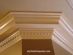 Eight piece dentiled crown molding