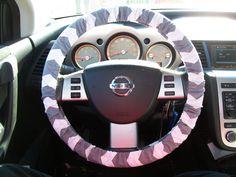 Grey Chevron Steering Wheel Cover by mammajane on Etsy, $14.00